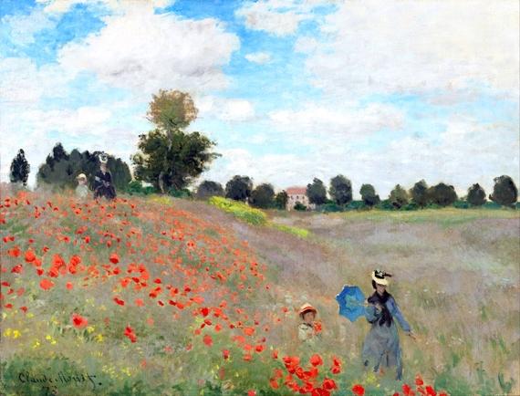Poppy Field 1873 by Claude Monet