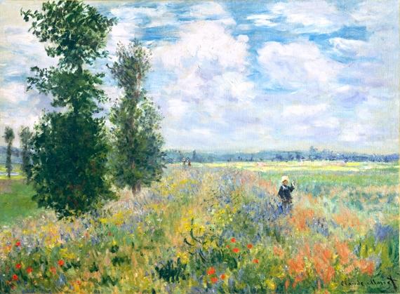 Poppy Fields near Argenteuil 1875 by クロード·モネ