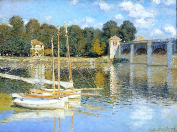 The Argenteuil Bridge by クロード·モネ