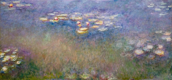 Water Lilies (Agapanthus)-Center Panel by クロード·モネ