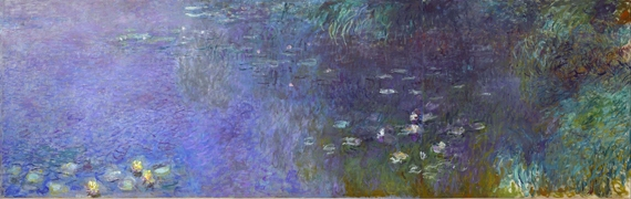 Water Lilies, Morning, 1920-26-Right Panel by Claude Monet