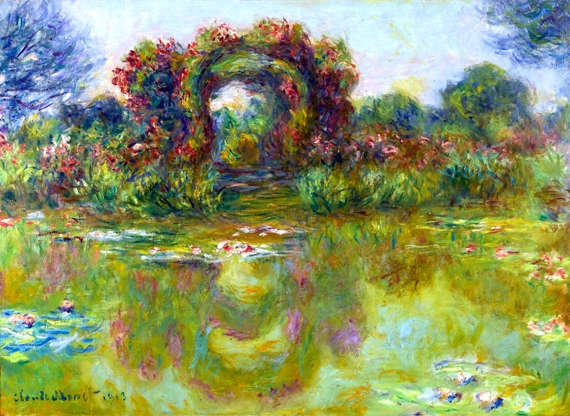 Bassin Aux Nymphéas, Les Rosiers 1913 by クロード·モネ