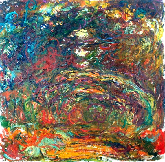 Path Under the Rose Arches, Giverny 1922 by Claude Monet