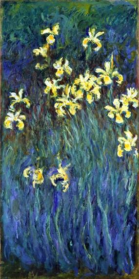 黄色いアイリス by クロード·モネ