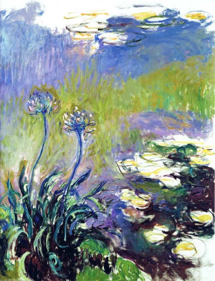 Agapanthus, 1914-17 by Claude Monet