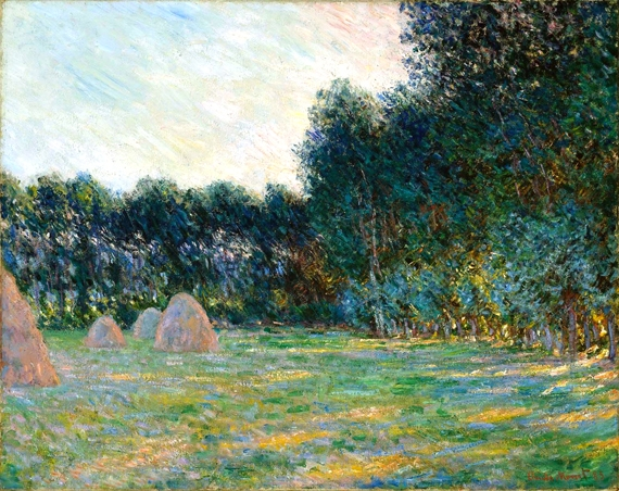 Meadow With Haystacks near Giverny, 1885 by Claude Monet