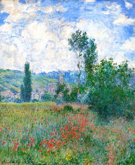 Poppy Field 1880 by Claude Monet