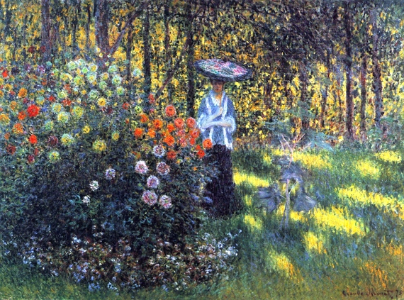 Woman With A Parasol In the Garden In Argenteuil, 1875 by Claude Monet