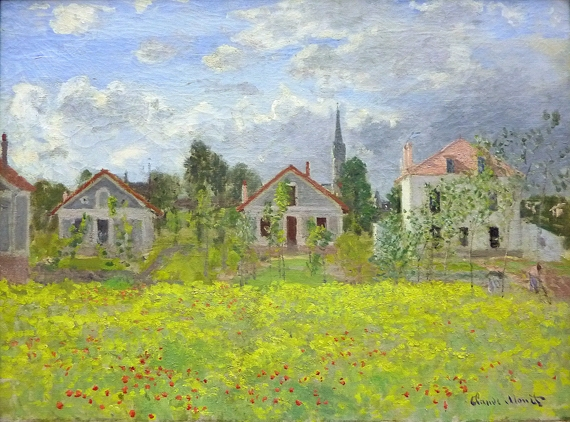 Houses at Argenteuil, 1873 by Claude Monet