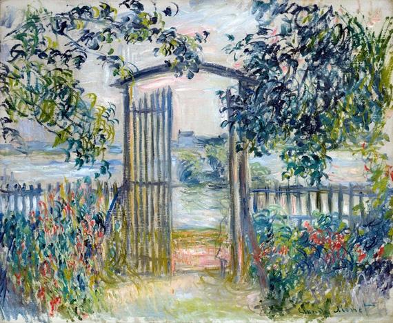 La Porte Du Jardin à Vétheuil by Claude Monet