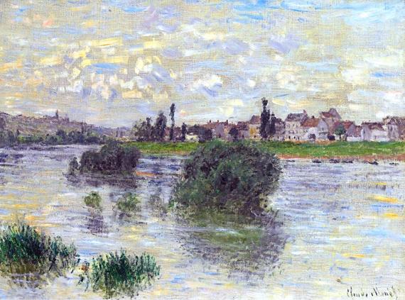The Seine at Lavacourt, 1879 by Claude Monet