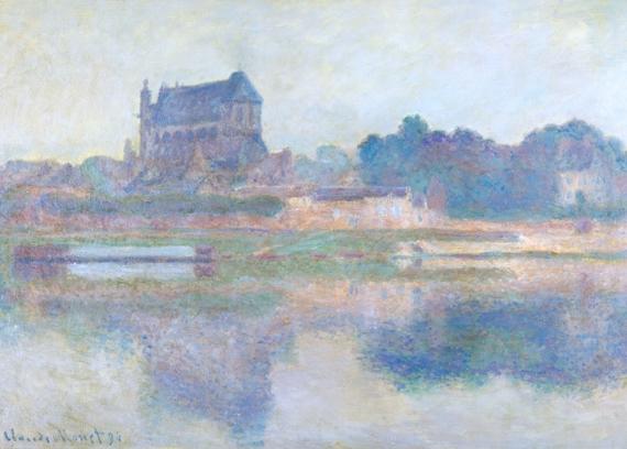 L'église De Vernon, Temps Gris by Claude Monet