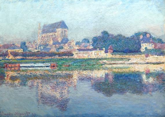 Église De Vernon, Soleil by Claude Monet