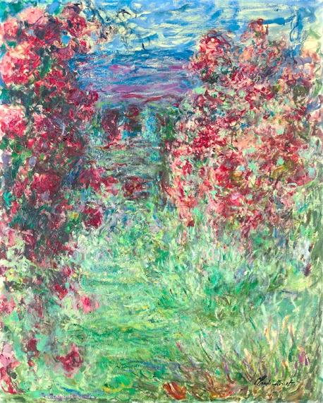 La Maison Dans Les Roses 1925 by Claude Monet