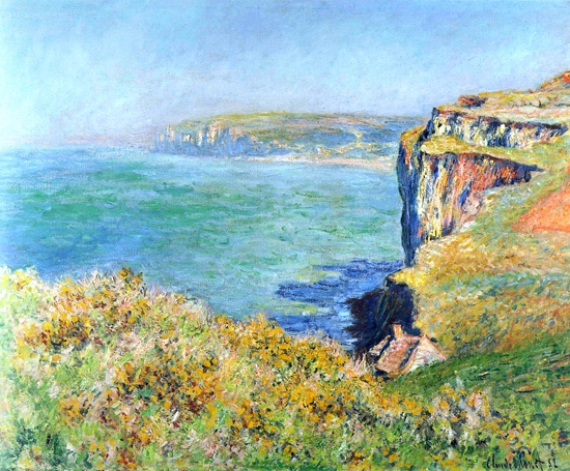 Cliff at Grainval, 1882 by Claude Monet
