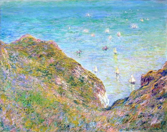 View From the Cliff at Pourville, Bright Weather, 1882 by Claude Monet