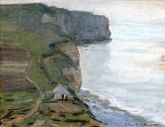 Cape Antifer, Etretat by Claude Monet