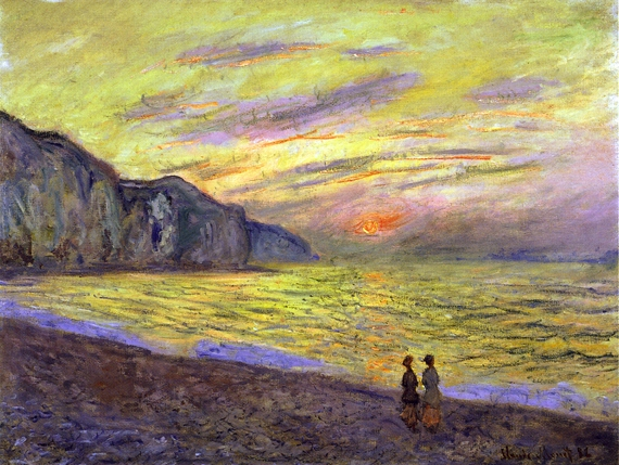 Sunset at Pourville, 1882 by Claude Monet