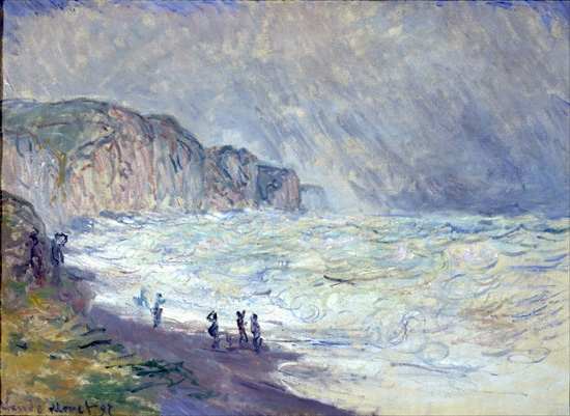 Heavy Sea at Pourville by Claude Monet