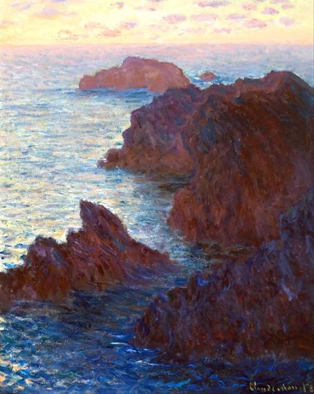 Rocks at Belle-Lle, Port-Domois by Claude Monet