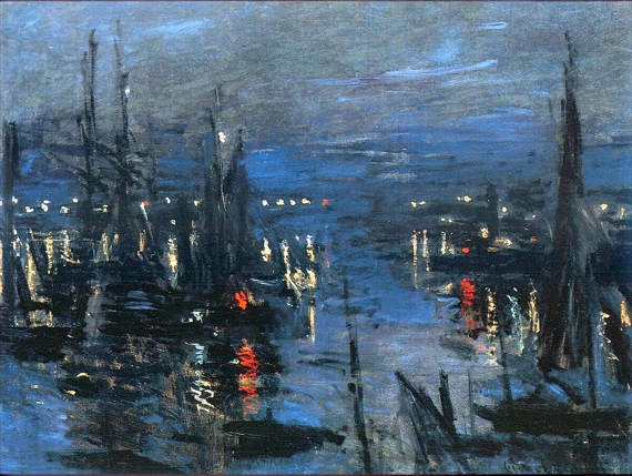 The Port of Le Havre, Night Effect, 1873 by Claude Monet