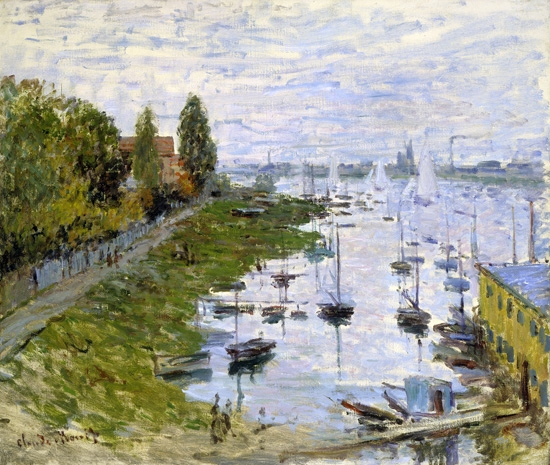 The Port of Argenteuil by Claude Monet