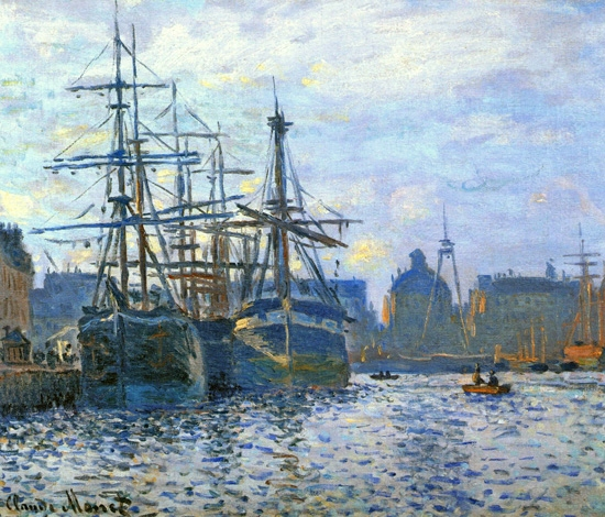 Le Havre, the Harbor, 1874 by Claude Monet