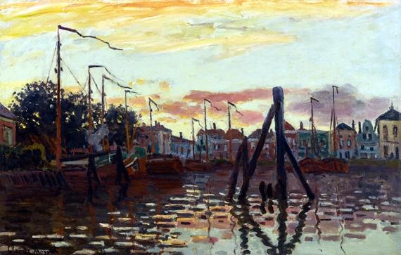 Le Port De Zaandam by Claude Monet