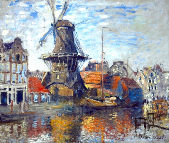The Windmill, Amsterdam by Claude Monet