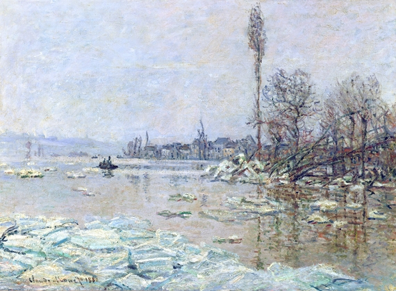 Breakup of Ice, 1880 by Claude Monet