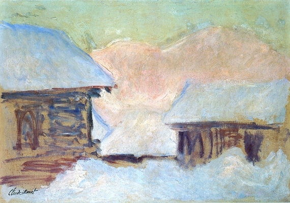 Norway, Houses Under the Snow, 1895 by Claude Monet
