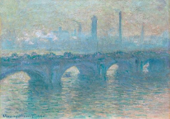 Waterloo Bridge, Gray Weather 1900 by Claude Monet
