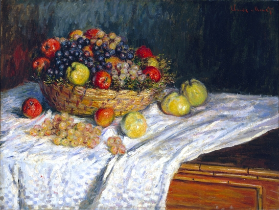 Apples and Grapes by Claude Monet