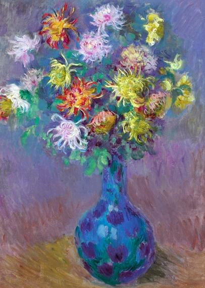 Vase of Chrysanthemums, 1882 by Claude Monet