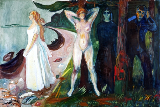 The Woman In Three Stages by Edvard Munch