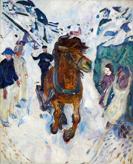 Galloping Horse by Edvard Munch