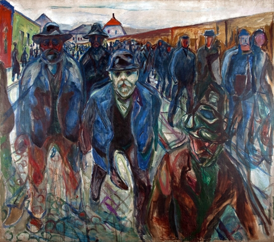 Workers On Their Way Home by Edvard Munch