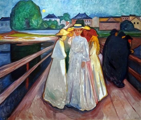 Ladies On The Bridge by エドヴァルド・ムンク