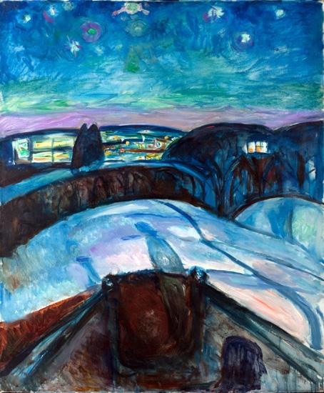 Starry Night by Edvard Munch