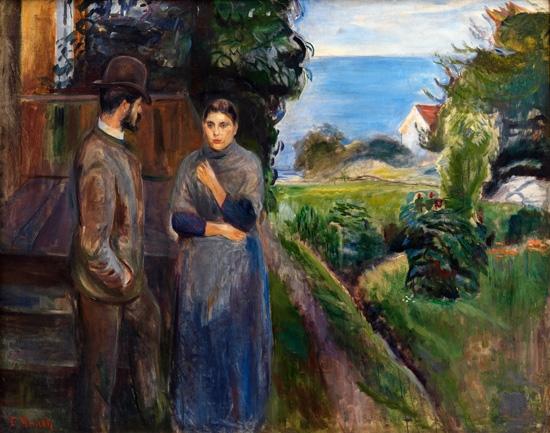 Evening Talk,889 by Edvard Munch
