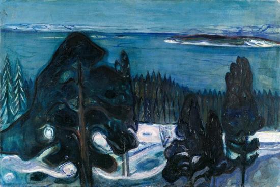 Winter Night (1900) by Edvard Munch