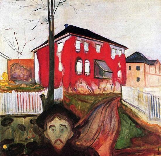 Red Virginia Creeper by Edvard Munch
