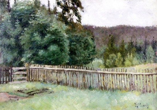 Fence In The Forest by Edvard Munch