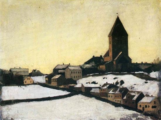 Old Aker Church by Edvard Munch