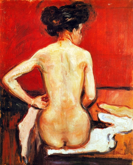 Seated Nude With Her Back Turned by Edvard Munch