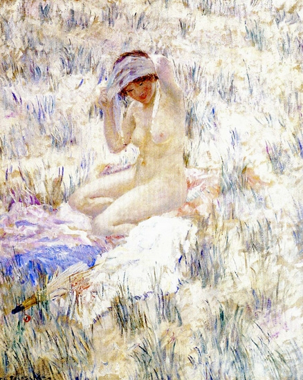 On The Dunes by Frederick Carl Frieseke