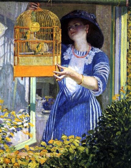 The Open Window by フレデリック・カール・フリージキー