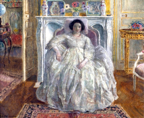 Old Fashioned Gown by Frederick Carl Frieseke