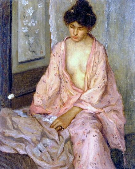Girl In Pink by Frederick Carl Frieseke