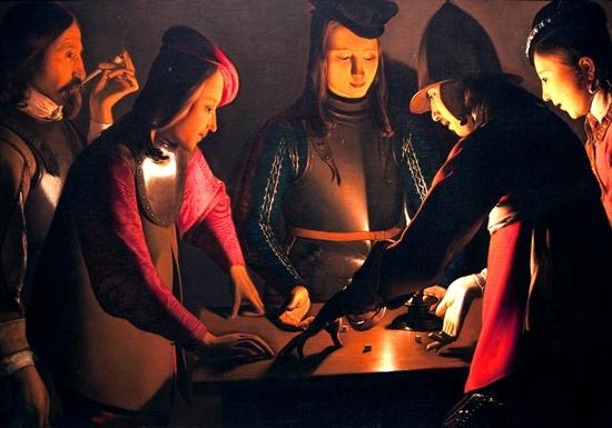 Dice players by Georges La Tour
